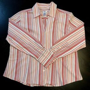 G.H. Bass & Co Button up Stretch Long Sleeve Top